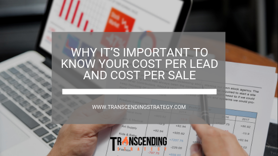 importance of cost per lead cost per sale